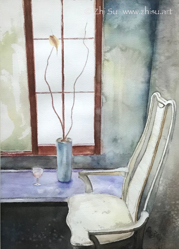 Chair, watercolor