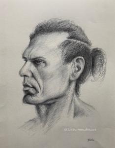 Portrait of Rajiv, ballpoint pen, 2019