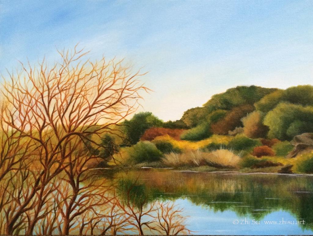 American River, acrylic