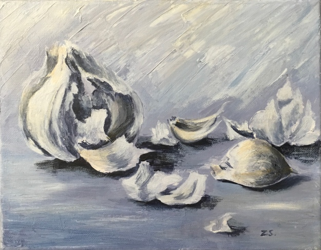 Garlic, acrylic