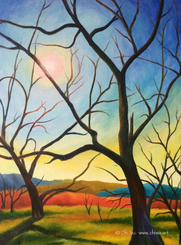 Trees, acrylic