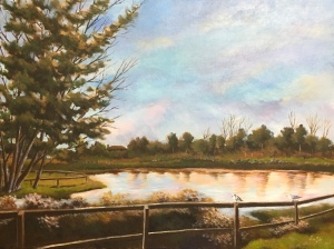 Penitencia Creek Park, acrylic on canvas, 16 x 20 in, 2018